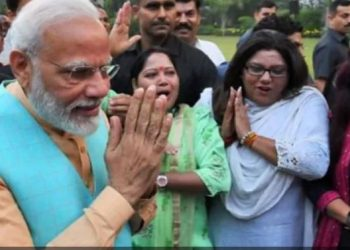 Modi met people living in illegal colony