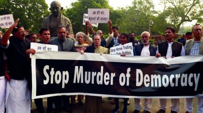 stop murder of democracy protest