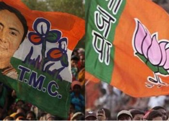 congress's supporters attack on bjp in bengal