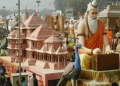 ram mandir model in parade