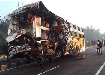 13-killed-in-bus-and-truck-collision-in-andhra